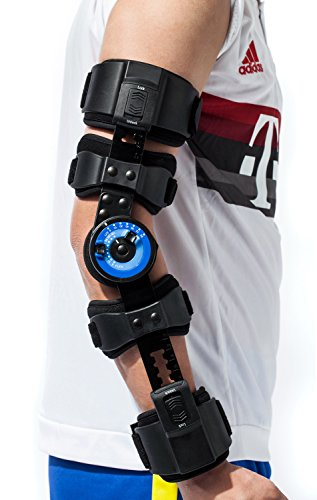 Orthomen ROM Hinged Elbow Brace - Support Post Op Injury Recovery (Right)