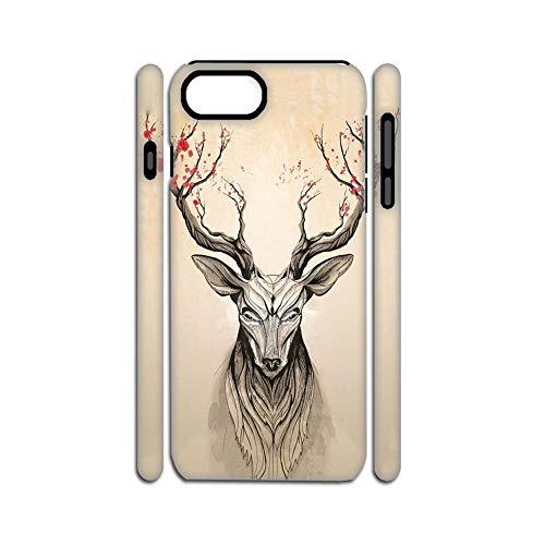 Printing Deer 1 Sole Shell Rigid Plastic Compatible iPhone 7 Plus 8 Plus Man Choose Design 136-2