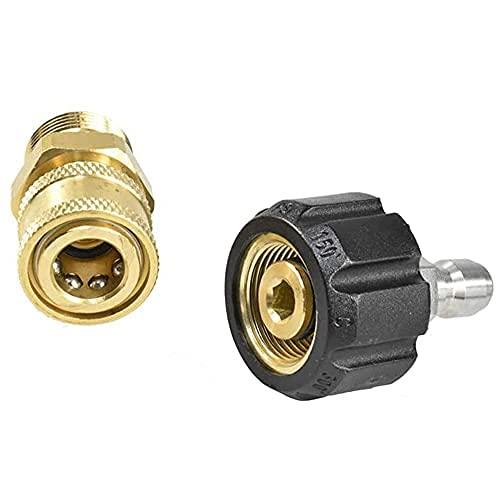 Kit de adaptador de lavadora de alta presión Kit de conexión rápida m22 cabeza macho, 14 mm, para conexión rápida de 3/8' rápida