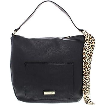 London Fog Lizzt Women s Pebbled Faux Leather Satchel Handbag Black Size Large