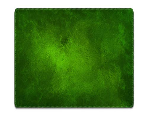 Silent Monsters Tappetino Mouse, Taglia S (240 x 200 mm) Piccolo, Disegno Verde con Bordo Cucito, per Ufficio Mouse e Gaming Mouse