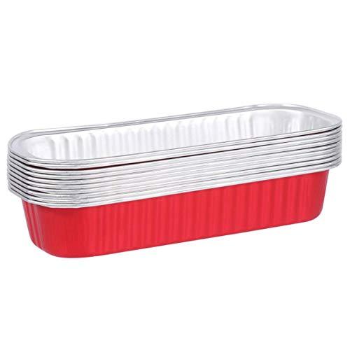 10 unids desechable aluminio papel de aluminio pastel pastel tarta tarta sartenes bricolaje hechos en casa cupcake tazas de hornear aluminio contenedores de almacenamiento de alimentos para hornear mi