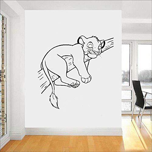 Tianpengyuanshuai leeuw muur vinyl stickers cartoon muursticker muur kinderkamer decoratie afneembare kinderkamer sticker