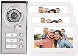 Sistema de intercomunicación de timbre de alto rendimiento, pantalla TFT-LCD a color de 7 pulgadas, intercomunicador de video de 4 cables, timbre de puerta, control de cerradura eléctrica, Han
