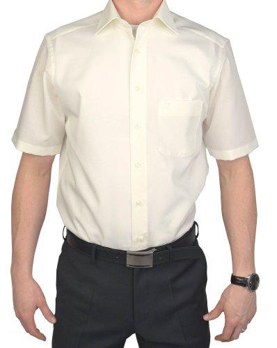 Marvelis Hemd Modern Fit Kurzarm 1/2 Arm Champagner Art. 4700.12.20 100% Baumwolle, Kragenweite/Größe:45