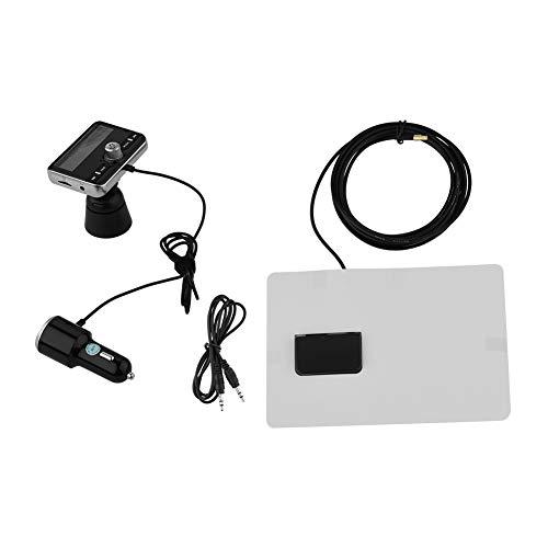Wendry DAB-digitale zender, auto-Bluetooth digitale zender-adapter FM DAV/DAB + radio-ontvanger tuner 3,5 mm audiokabel-ondersteuning QC3.0 snellading, zwart