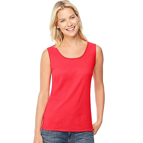 Hanes Women's Mini-Ribbed Cotton Tank_Red Spark_XL
