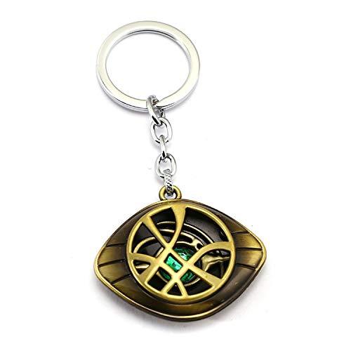 fly-consciousness Llavero colgante de metal con cadena para hombre y mujer, (Bronze Keychain), Talla única