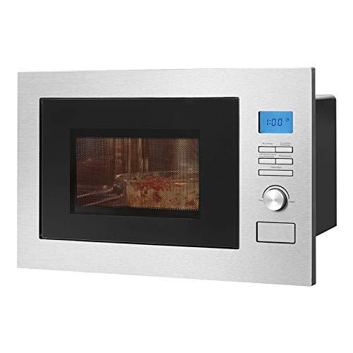 *Bomann MWG 3001 H EB, 3 in 1- Einbau-Mikrowelle mit Grill und Heißluft, LCD-Display, 8 Automatikprogramme, Timerfunktion, 25 L Garraum, Edelstahlfront- und Innenraum*