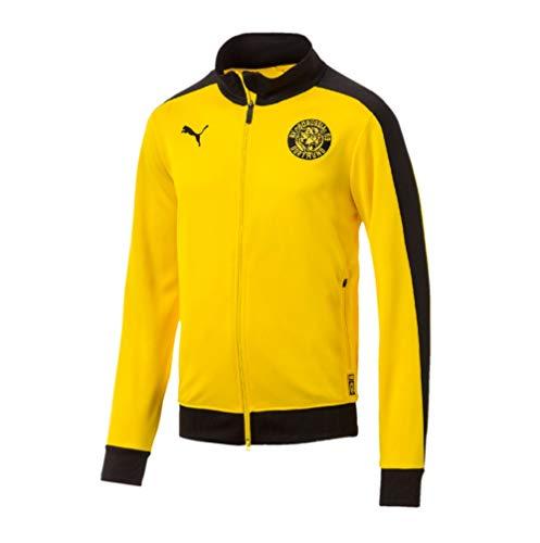 PUMA BVB Borussia Dortmund 09 T7 Retro Trainigsjacke (S, gelb/schwarz)