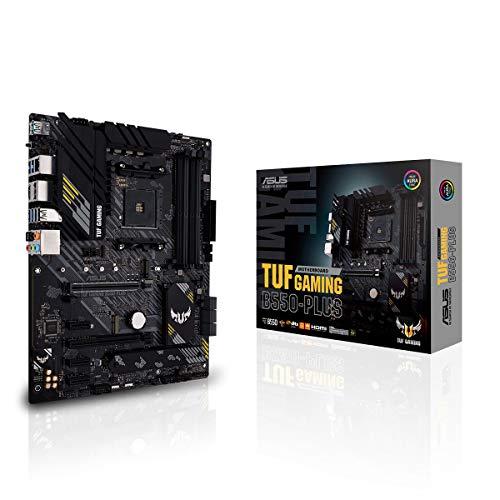 ASUS TUF Gaming B550-Plus Mainboard Sockel AM4 (ATX, Ryzen, PCIe 4.0, 2x M.2, 2Gbit/s Ethernet, SATA 6Gbit/s, USB 3.2 Gen 2 Typ-A/C, Aura Sync)