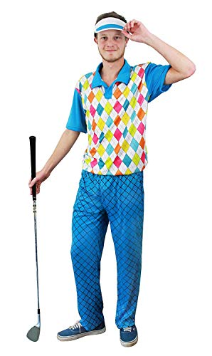 I love Fancy Dress Ltd Golfer-Kostüm für Herren, Blau