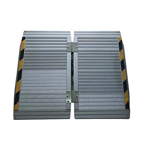 Rampe di Carico Rampa per Sedia A Rotelle in Lega di Alluminio Leggera, Rampa per Soglia Portatile, per Scale di Casa per Gradini dello Scooter, Facile da Installare (Size : 90cmx73cm)