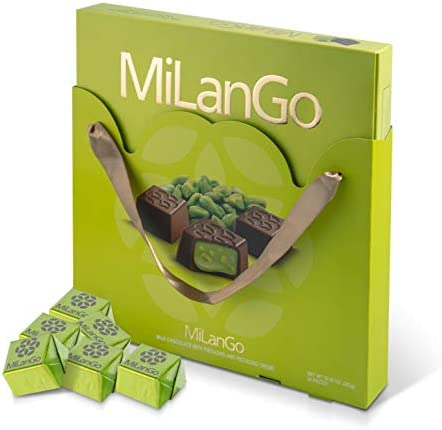 Milango Classic Pistachio Chocolate Gift Basket Gourmet Christmas Holiday Corporate Food Gifts product image