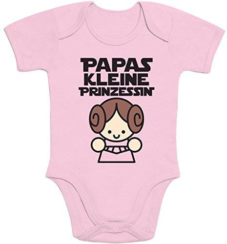 Shirtgeil Süße Geschenke für Väter - Papas Kleine Prinzessin Baby Body Kurzarm-Body 3-6 Monate Rosa