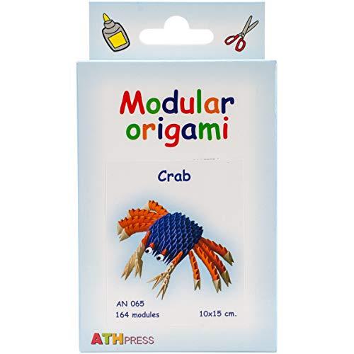 Origami Modular, Juego de 164 Piezas de Papel, Cangrejo pequeño, Multicolor