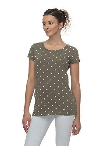 Ragwear 5031 - Camiseta de manga corta para mujer, color verde oliva verde XS