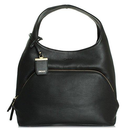 DKNY Chloe Negro Bolso Hobo Black Leather