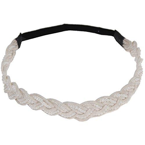 JUSTFOX - Geflochtenes Luxus Haarband mit Perlen