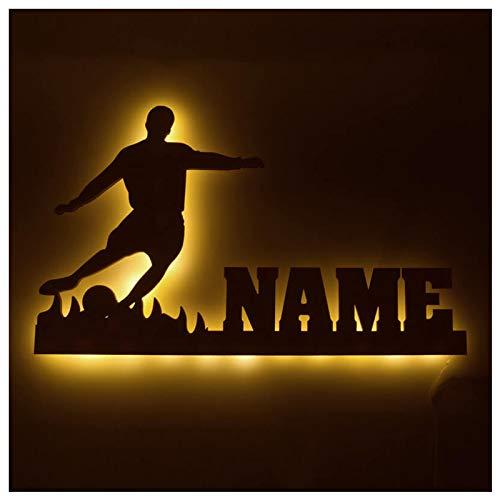 LED Kicker Fussball mit Name, Geschenke für Bundesliga Fußballer Jungen Jungs Vereine Trainer Spieler