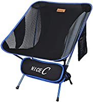 NiceC Ultralight Portable Folding Camping Backpacking Chair Compact & Heavy Duty Outdoor, Camping, BBQ, Beach, Travel,...