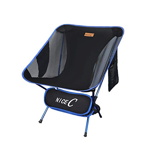NiceC Ultralight Portable Folding Camping Backpacking Chair Compact & Heavy Duty Outdoor, Camping,...