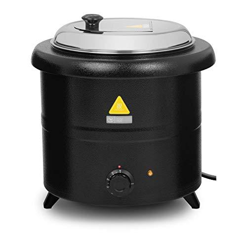 Royal Catering RCST-13SB Suppentopf elektrisch Suppenkessel Thekentopf Suppenwärmer 13 L 600 W 30-80 °C schwarz