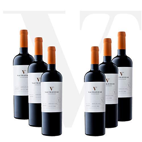 Valtravieso Crianza - Vino Tinto Ribera del Duero de Paramo Denominación de Origen   Tinto Fino 100%   Pack Lote de 6 Botellas x 750 ml ✅