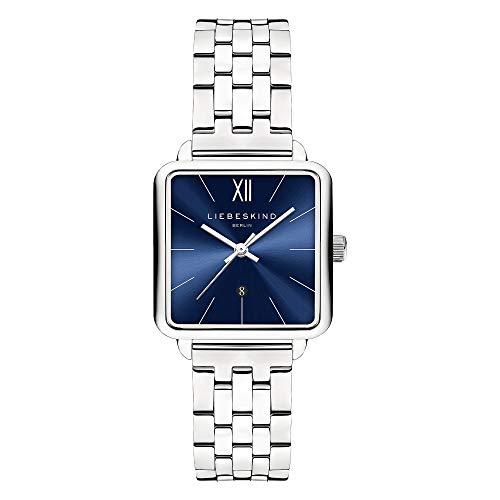 Liebeskind Berlin Damen Analog Quarz Uhr mit Edelstahl Armband LT-0182-MQ