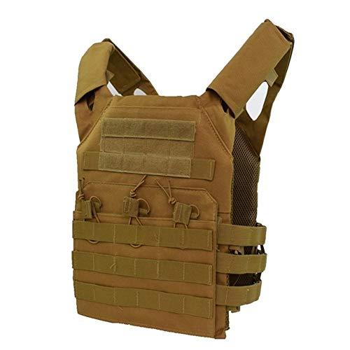 Tactical Vest Verwendet In CS Spiele, Outdoor-Jagd-Taktische Weste, Tactische JPC Molle Platte (Color : Tan, Size : One Size)