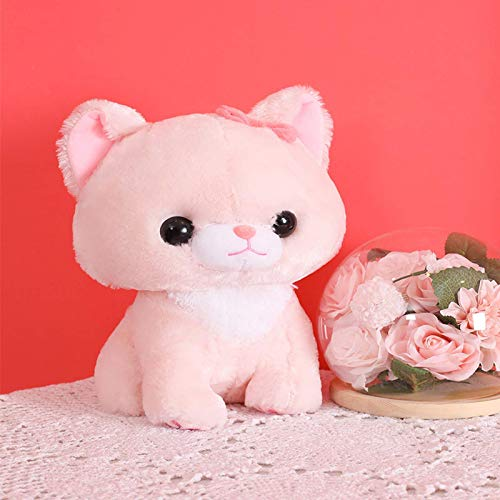 N / A Cartoon pelzige Sitzhaltung kleine Milch Katze Plüsch Spielzeugpuppe nach Hause Sofa Dekoration Kinderspielzeug tröstliche Puppe 30cm