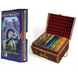 Harry Potter Collector's Christmas Boxset Entire Series with Stickers & Fantastic Beasts Boxset (Trunk Boxset Books 1-7 with Stickers & From the Library of Hogwarts: Fantastic Beasts and Where to Find Them / Quidditch Through the Ages)