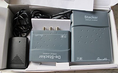 Stacker De-Stacker (deStacker) Multikonverter Einkabellösung für Sat-Empfang (EIN Kabel für Zwei Receiver)