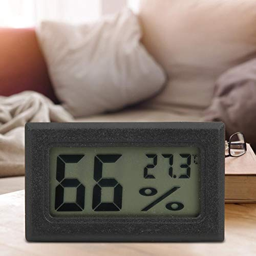 Qiter Mini higrómetro de Alta precisión, diodos láser Fácil de Transportar Higrómetro doméstico, con lámparas de visualización de Temperatura Consumidores de Oficina Cocina para el hogar