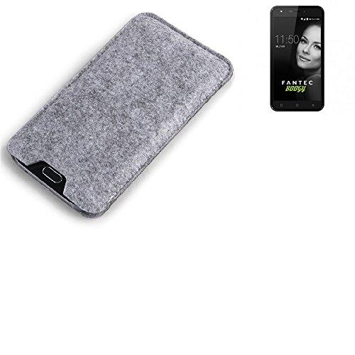 K-S-Trade® Filz Schutz Hülle Für FANTEC Boogy Schutzhülle Filztasche Filz Tasche Case Sleeve Handyhülle Filzhülle Grau