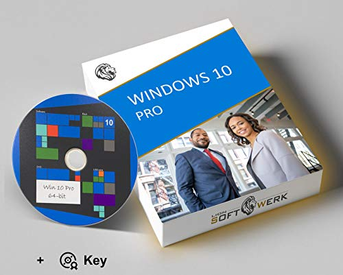 Windows 10 Pro Vollversion | Aktivierungspaket | 64-bit Installations-DVD + Original Produktschlüssel | EU-Konform