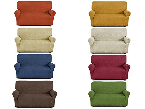 Copridivano 2 posti in tessuto elastico (da 110cm a 1500cm) Made in Italy (Colore da scegliere con una mail)
