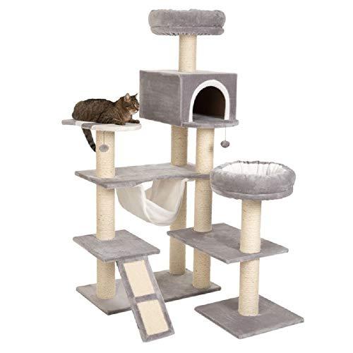Arbre à chat XXL Gingerbread avec échelle et maison