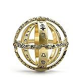 Henreal Anillo de bola de esfera astronómica anillo cósmico dedo pareja amante joyería regalos