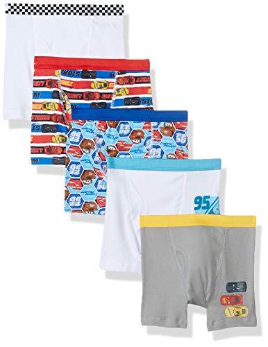 Disney Big Boys 5 Pack Boxer Briefs, Cars Bxrbr, 6