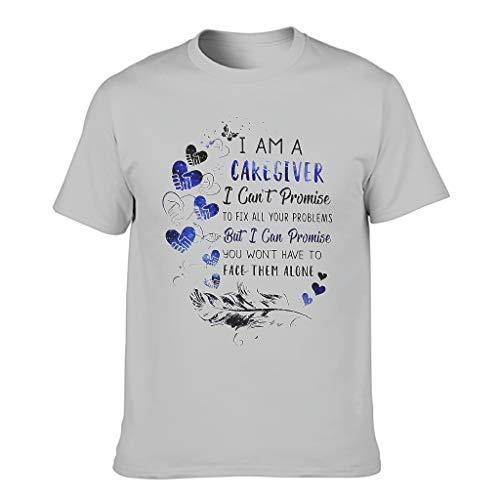 Herren T-Shirts Gedruckt Unisex Klassisch Passform Arbeitskleidung T-Shirt Weihnachten Silver Gray 3XL
