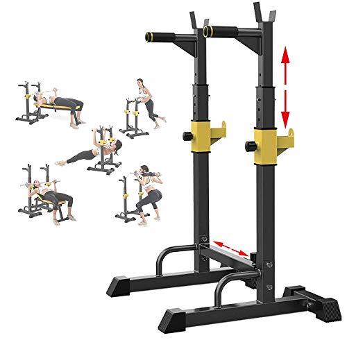 EEUK Langhantelstander Kniebeuge Squat Rack Hantelständer Bankdrücken Multifunktional Kniebeugenständer für Home Gym Krafttraining Stand Fitness, 250 Kg Belastbarkeit