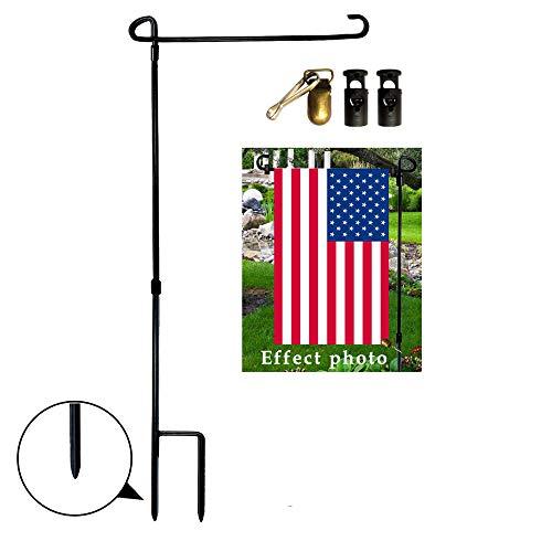 Bandera de Jardín Soporte, incluye tapones de goma paradas y antiviento. Fantasia Clip. Mantener Su Bandera nunca Get Trenzado nuevo