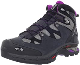 Salomon Women's Comet 3D Lady GTX Hiking Boot,Pewter/Asphalt/Anemone Purple,5 M US