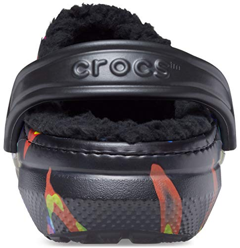 Crocs Unisex-Adult Men's and Women's Classic Tie Dye Lined Clog | Warm and Fuzzy Slippers