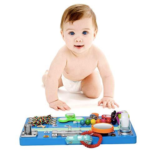 Montessori Locks & Latches Board Blue Busy Board Educational Board Writting Board