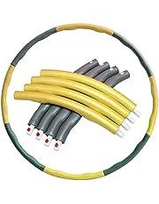 BBGSFDC Amplio Amplio Hula Hoop News Fitness 8 Secciones Diseño de Onda extraíbles Design Gait de Masaje fácil de Usar Adecuado para Adelgazar, Fitness, Masaje (Color : Yellow)