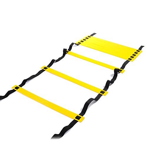 Xin 4 Estilos 6/8/10/12 peldaño de Nylon Correas de formación Agilidad escaleras Velocidad Escaleras Escalera for fútbol y la Velocidad de fútbol Equipo de Escalera (Size : 3m 6rung)