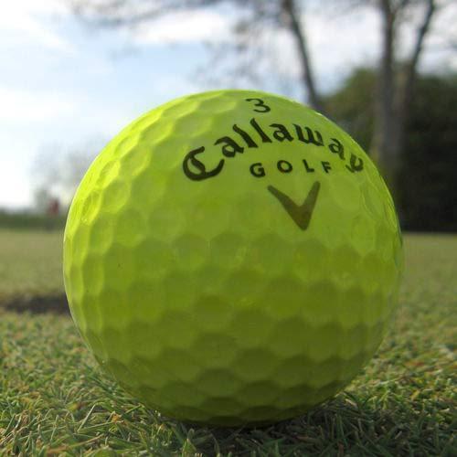 Bolas Golf Recuperadas Amarillas Marca