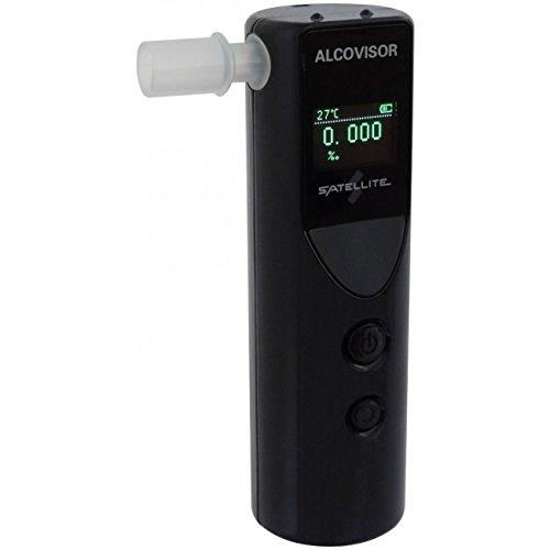 Buy Bargain Alcovisor Satellite Breathalyzer Personal Breath Alcohol Tester- Professional Grade- Acc...